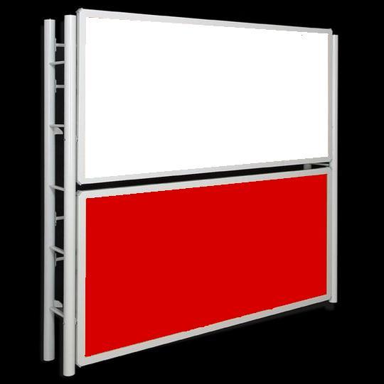 litera abatible blanca roja