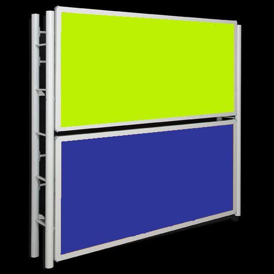 litera abatible verde azul