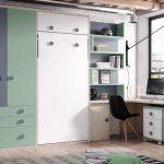 habitacion juvenil con litera vertical